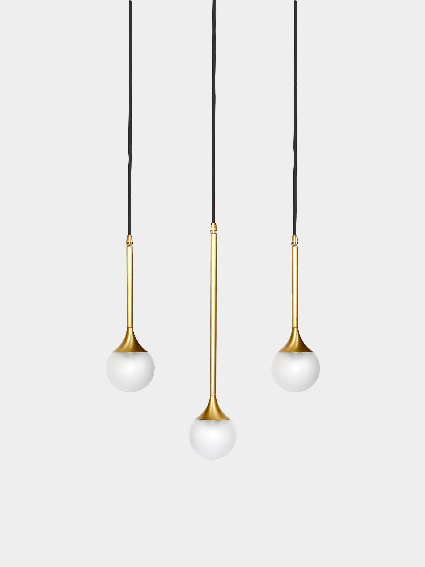 Bullarum ss suspension light for Suspension a 3 lampes