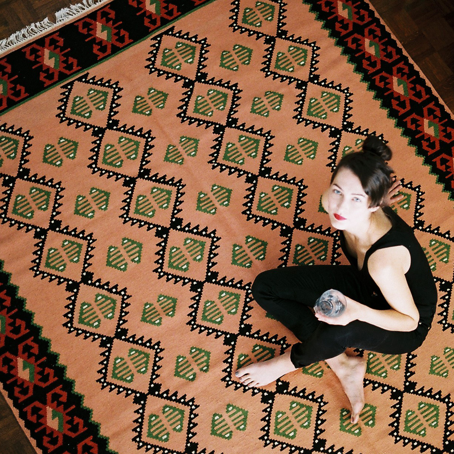 KOBEIAGI KILIMS LEJLA KILIM Kilim is a traditional hand-woven wool fabric that can be used as a rug, a blanket or a bed cover. It can also be a charming decoration for walls and windows. Created by Slovenian duo Kobeiagi Kilims.