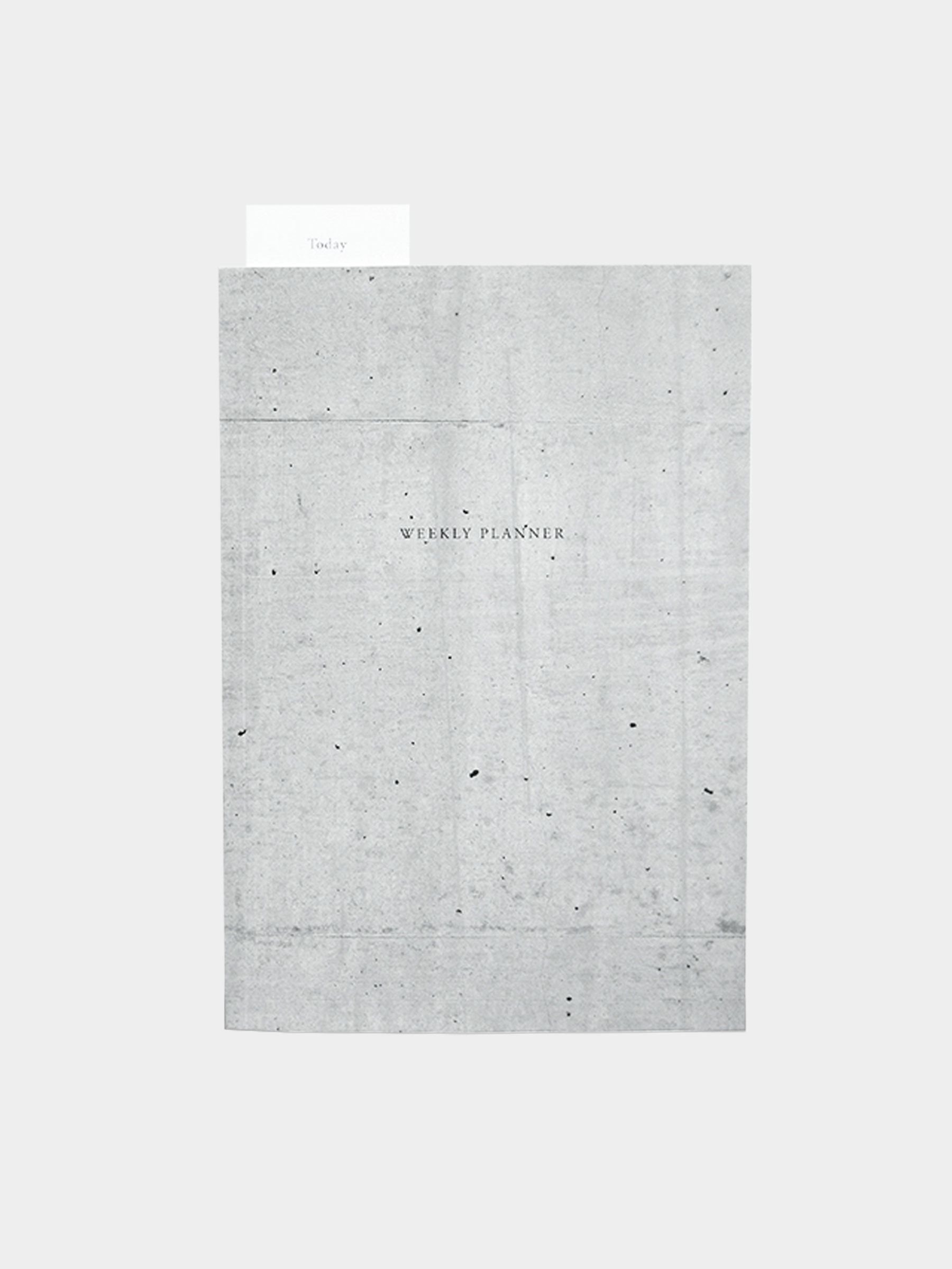concrete weekly planner