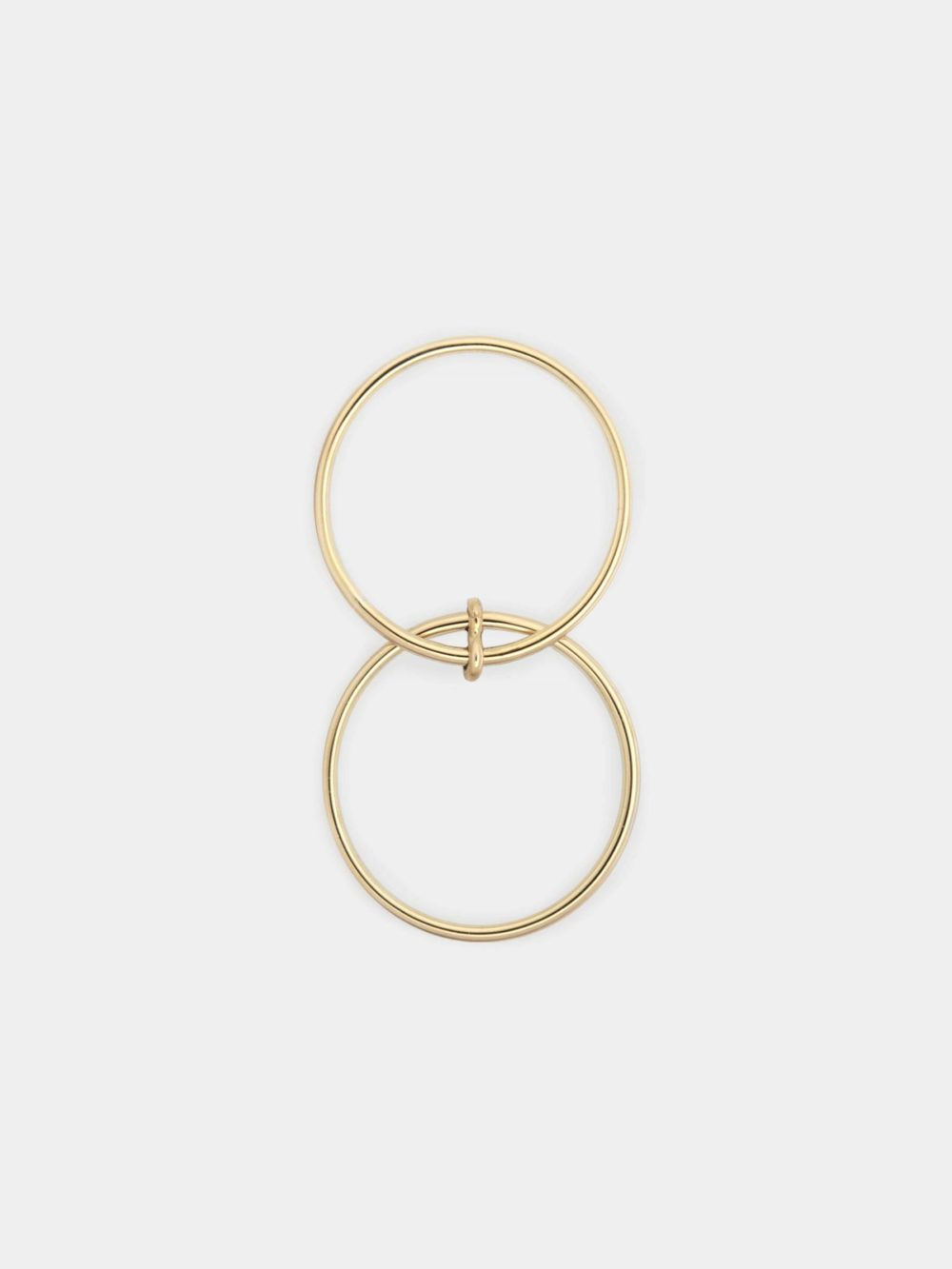 BEPART DOUBLE FINGER RING Handmade in Bepart studio in Slovakia, the Double finger ring from Circle collection is geometric, pure but modern take on minimal ring.