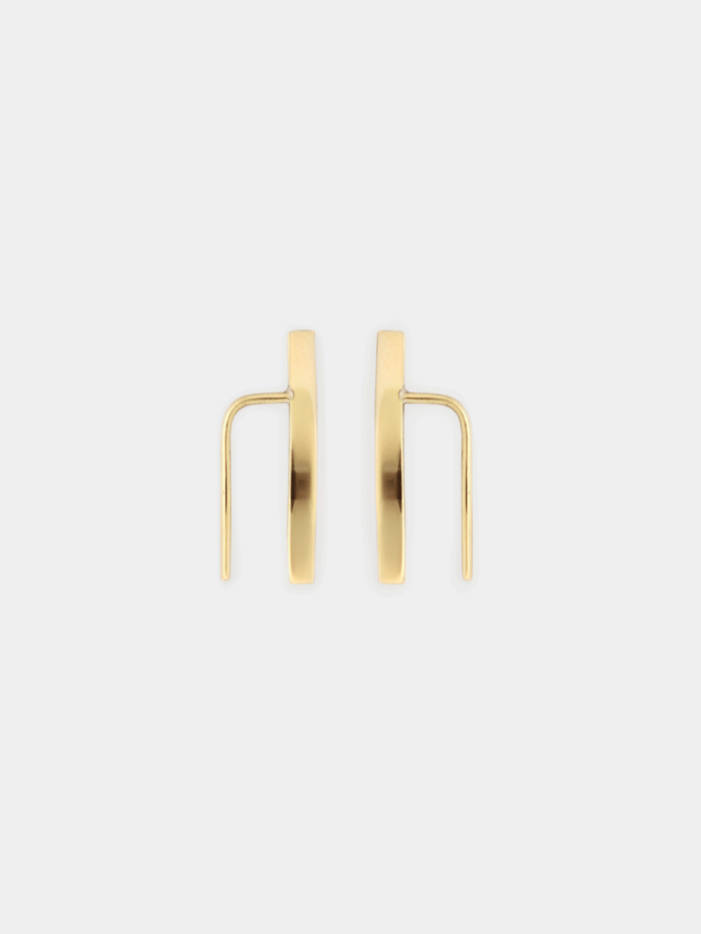 BEPART LINE EARCLIMBER Handmade in Bepart studio in Slovakia, the Line ear climber is geometric, clean and very polished take on classic earring.