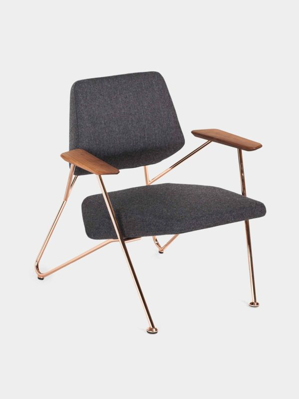 PROSTORIA POLYGON ARMCHAIR (black and copper) - available at utopiast.com
