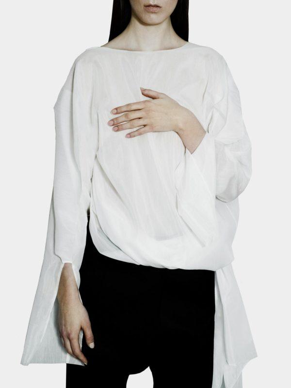 White Tunic - Joanna Organisciak - Cotton, Silk - utopiast.com