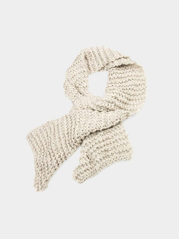 Wool beige scarf by Dudzinska - available at utopiast.com