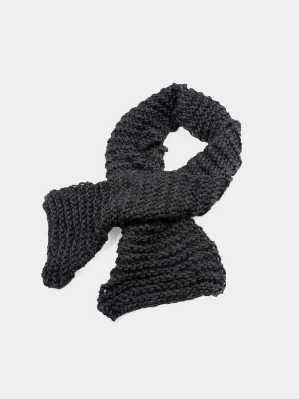 Wool black scarf by Dudzinska - available at utopiast.com