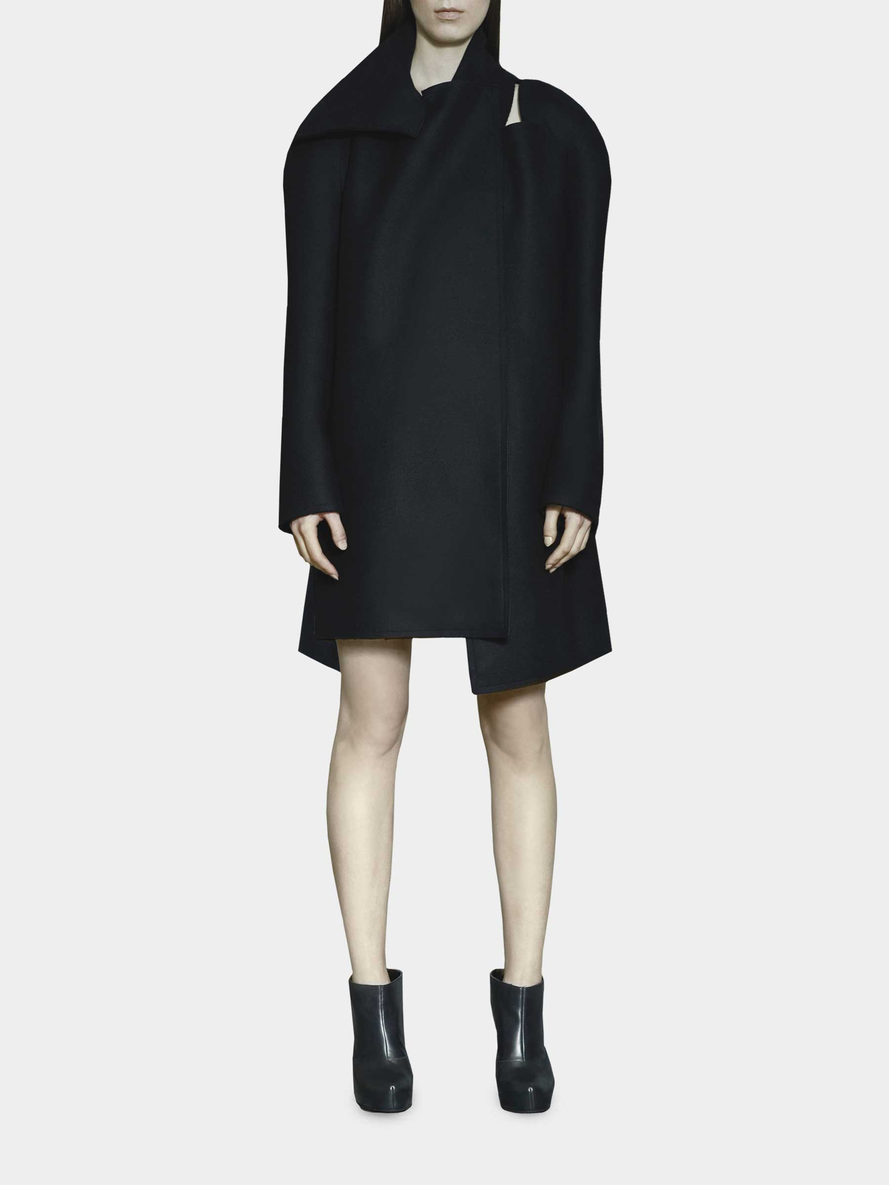 Joanna Organisciak Black Asymmetrical Coat