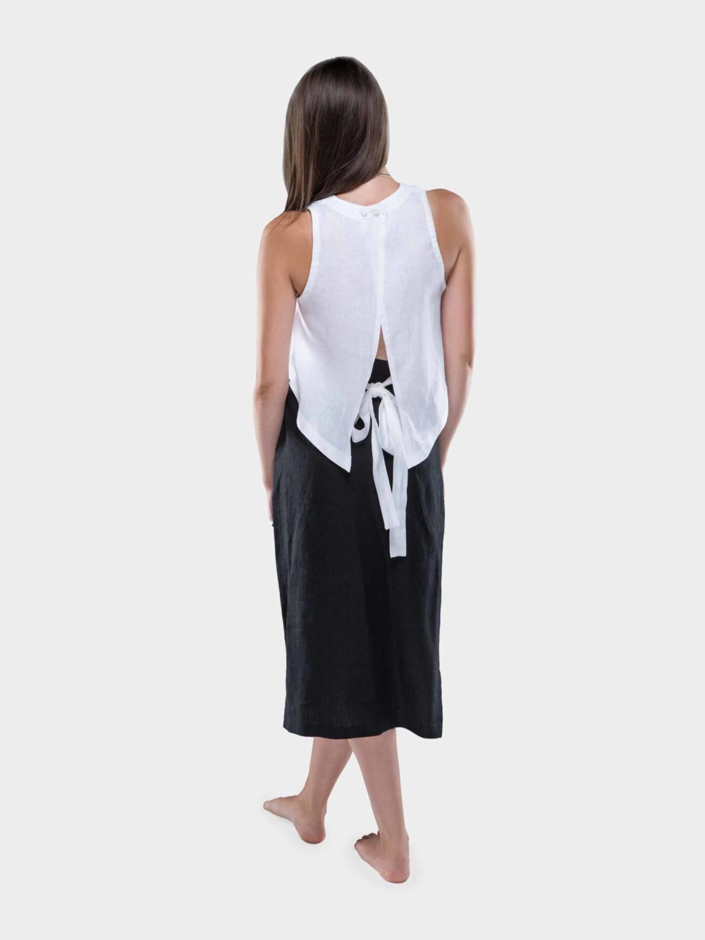Luci Linen crop top - white