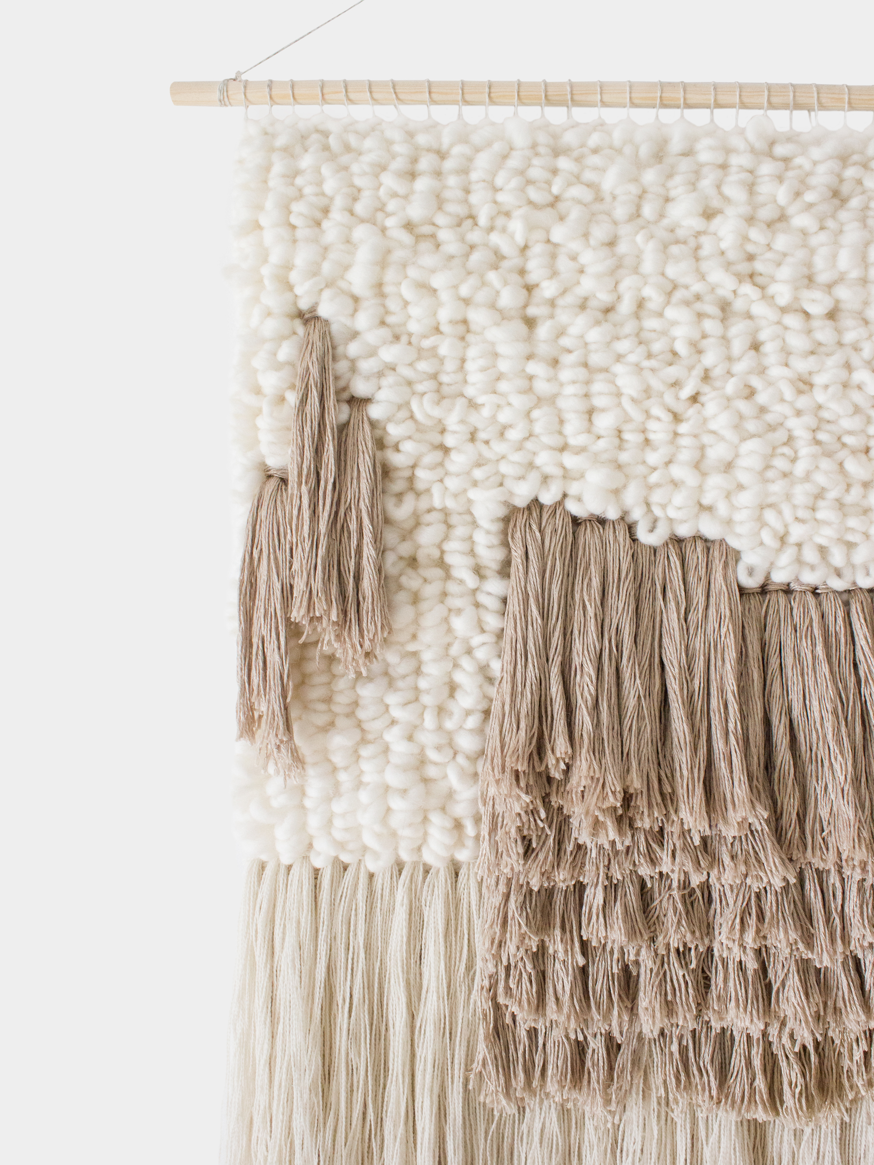 WeavingMyStory wall hanging neutral