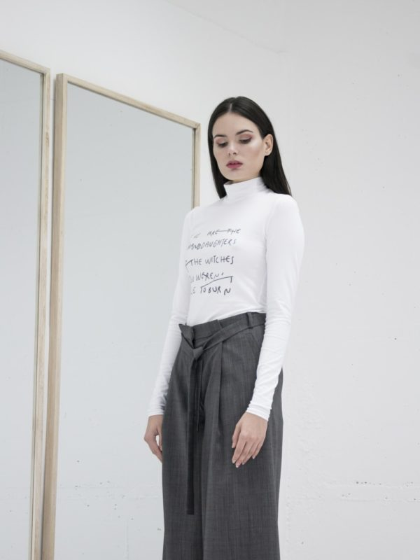 Janja Videc Witches Turtleneck in white - available at utopiast.com