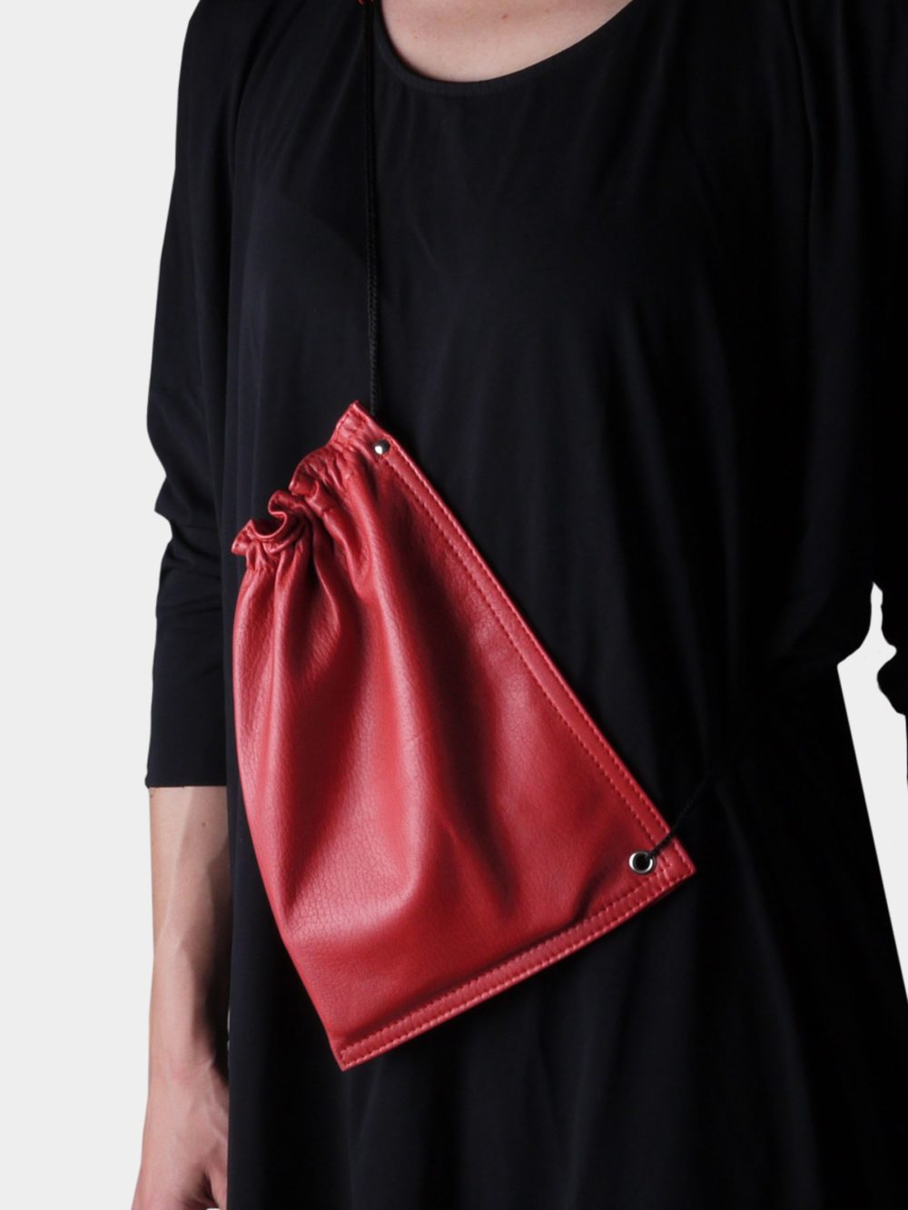 HAF leather bag - red