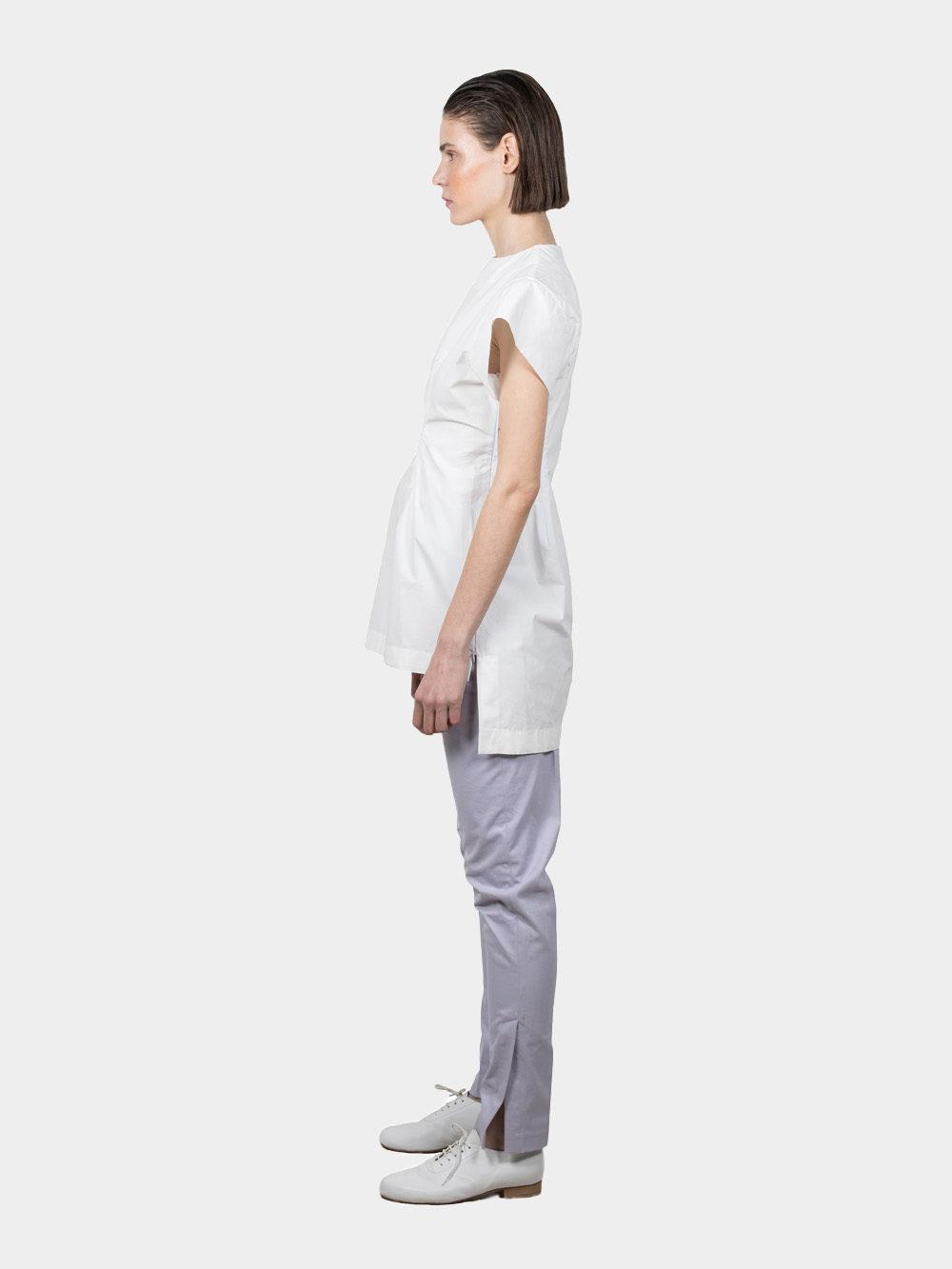 Ludus Slashed T-shirt - white